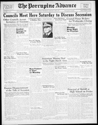 Porcupine Advance, 14 Jan 1937