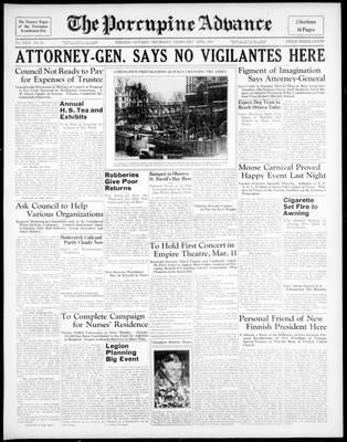 Porcupine Advance, 25 Feb 1937