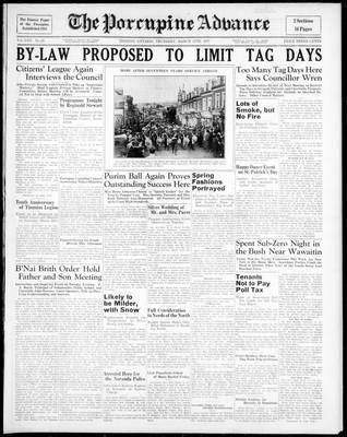 Porcupine Advance, 11 Mar 1937