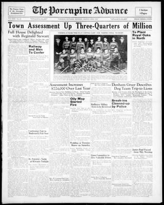 Porcupine Advance, 15 Mar 1937