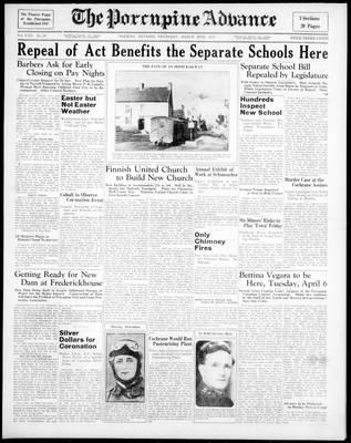 Porcupine Advance, 25 Mar 1937