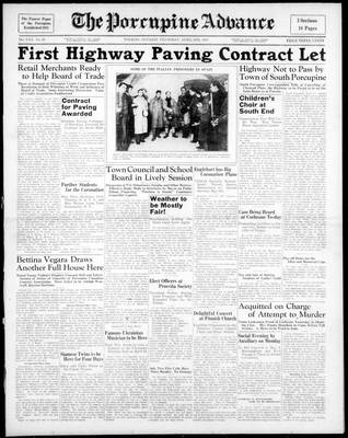 Porcupine Advance, 8 Apr 1937