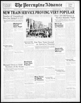 Porcupine Advance, 26 Apr 1937