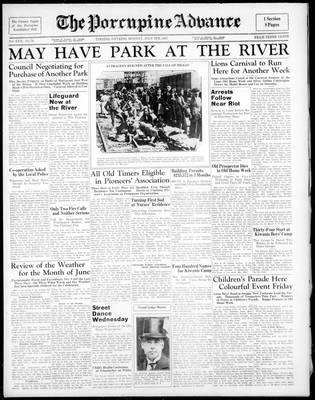 Porcupine Advance, 5 Jul 1937