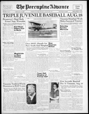 Porcupine Advance, 9 Aug 1937