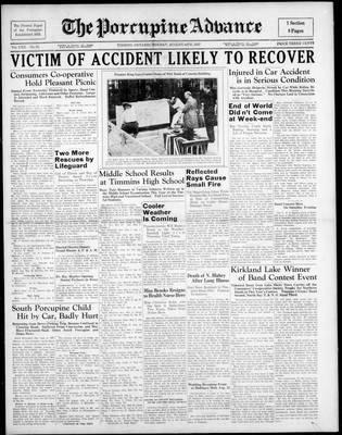 Porcupine Advance, 16 Aug 1937