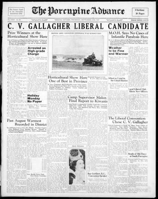 Porcupine Advance, 2 Sep 1937