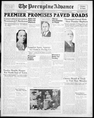 Porcupine Advance, 9 Sep 1937