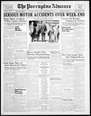 Porcupine Advance, 20 Sep 1937