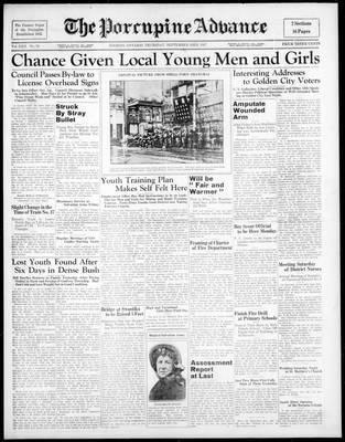Porcupine Advance, 23 Sep 1937