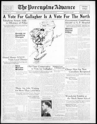 Porcupine Advance, 4 Oct 1937