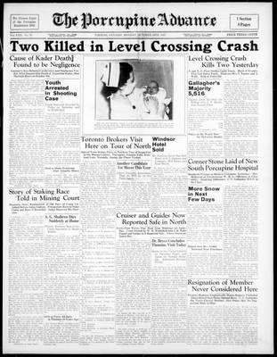 Porcupine Advance, 18 Oct 1937
