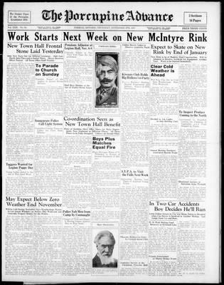 Porcupine Advance, 4 Nov 1937