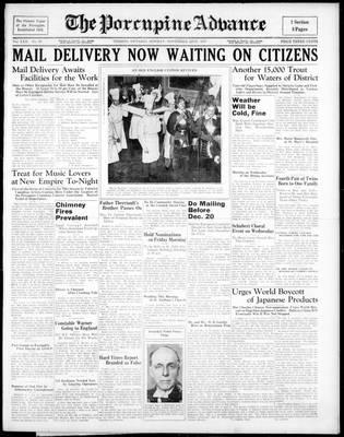 Porcupine Advance, 22 Nov 1937