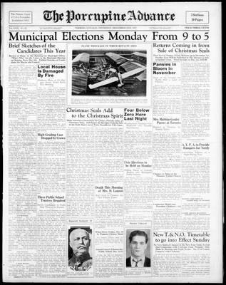 Porcupine Advance, 2 Dec 1937