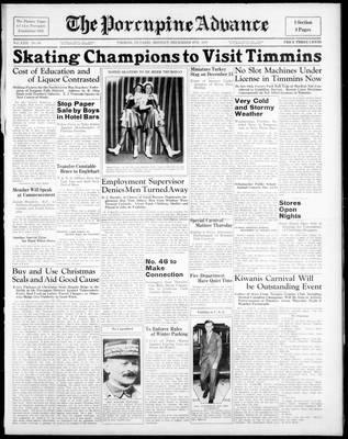 Porcupine Advance, 6 Dec 1937