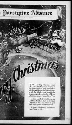 Porcupine Advance, 23 Dec 1937
