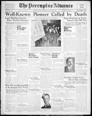 Porcupine Advance, 3 Jan 1938