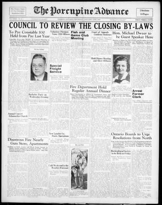 Porcupine Advance, 13 Jan 1938