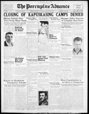 Porcupine Advance, 20 Jan 1938