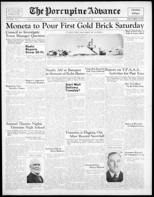 Porcupine Advance, 27 Jan 1938
