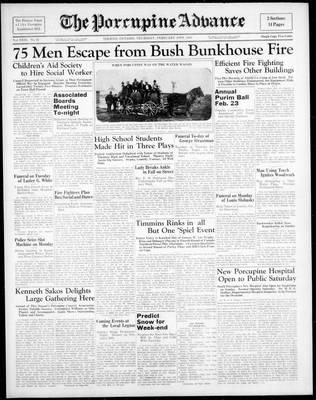 Porcupine Advance, 10 Feb 1938