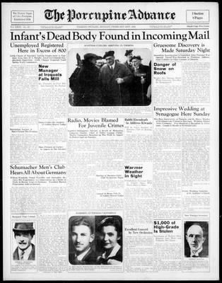 Porcupine Advance, 21 Feb 1938
