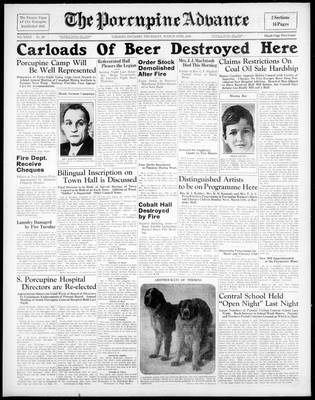 Porcupine Advance, 10 Mar 1938