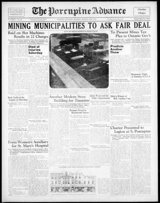 Porcupine Advance, 14 Mar 1938