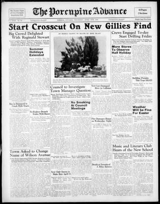 Porcupine Advance, 14 Apr 1938