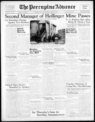 Porcupine Advance, 25 Apr 1938