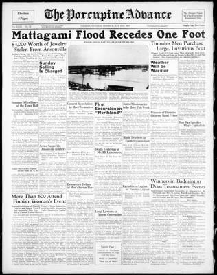 Porcupine Advance, 2 May 1938