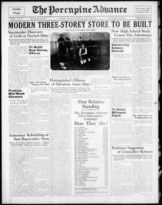 Porcupine Advance, 9 May 1938