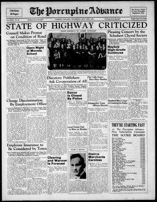 Porcupine Advance, 12 May 1938
