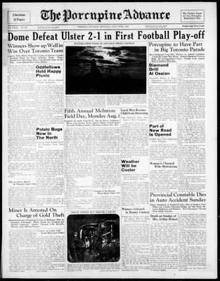 Porcupine Advance, 25 Jul 1938
