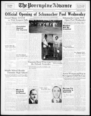 Porcupine Advance, 15 Aug 1938