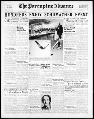 Porcupine Advance, 18 Aug 1938
