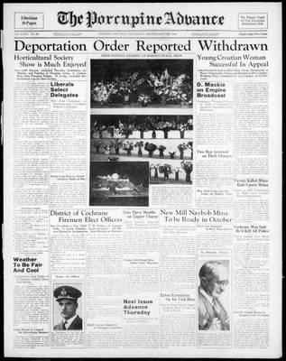 Porcupine Advance, 1 Sep 1938