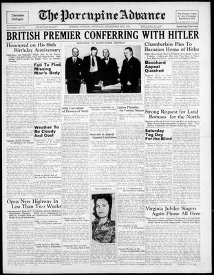 Porcupine Advance, 15 Sep 1938
