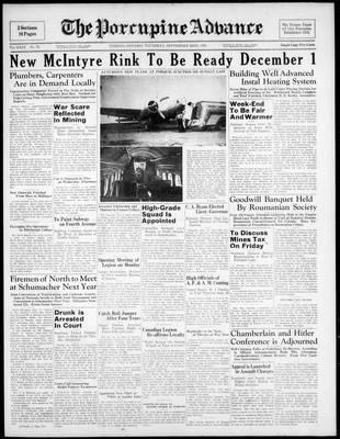 Porcupine Advance, 22 Sep 1938
