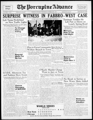 Porcupine Advance, 6 Oct 1938