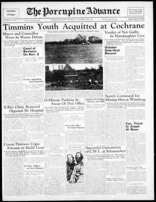 Porcupine Advance, 13 Oct 1938