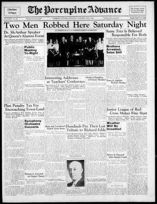 Porcupine Advance, 24 Oct 1938