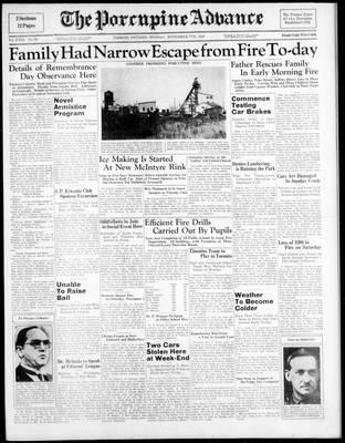 Porcupine Advance, 7 Nov 1938