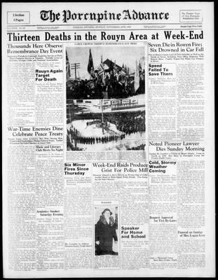 Porcupine Advance, 14 Nov 1938