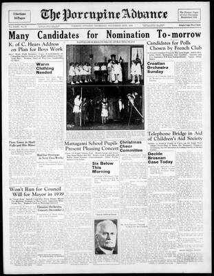Porcupine Advance, 24 Nov 1938