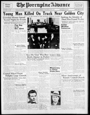 Porcupine Advance, 12 Dec 1938
