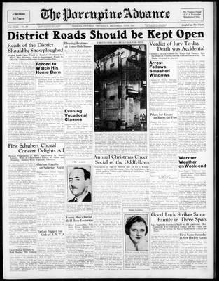 Porcupine Advance, 15 Dec 1938