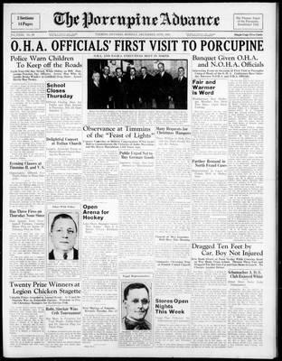 Porcupine Advance, 19 Dec 1938