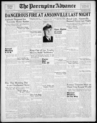 Porcupine Advance, 9 Feb 1939